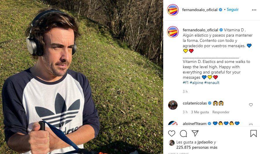 Esta es la primera imagen de Fernando Alonso tras el accidente