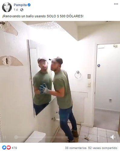 Videos en el FB de Pampita