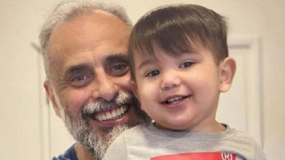 Jorge Rial junto a su nieto