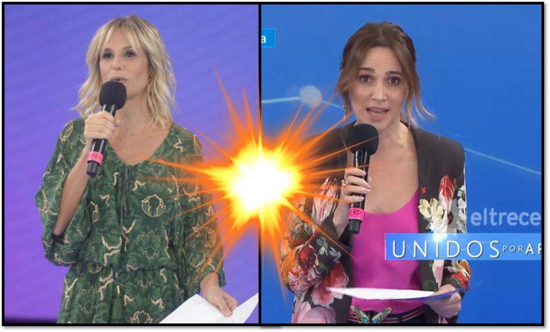 Lo que no se vio en Unidos por Argentina: en Intrusos dijeron que hubo mala onda entre Mariana Fabbiani y Vero Lozano