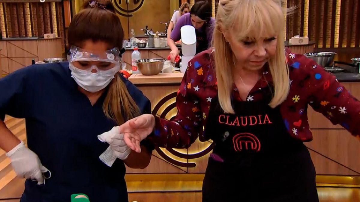 Claudia Villafañe vivió un fuerte accidente en Masterchef Celebrity