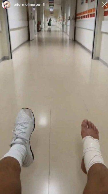 ¡En el hospital! Adara Molinero acudió para saber cómo está su hermano