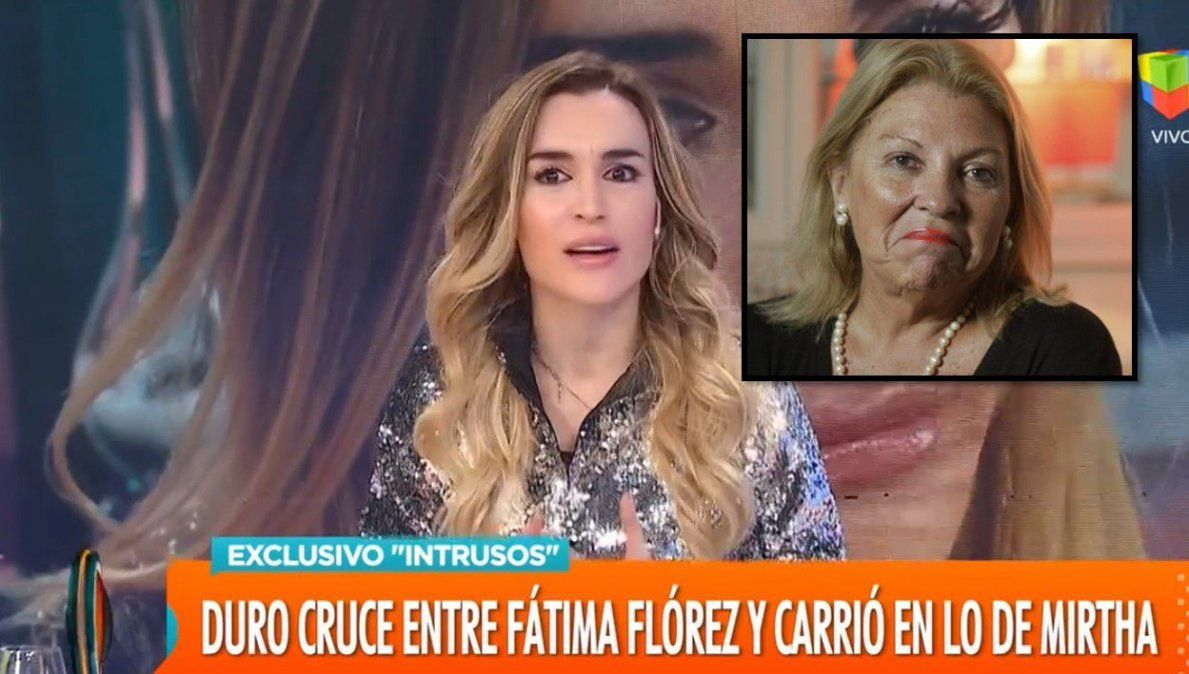Fátima Florez contó el detrás de escena del cruce con Carrió en la mesa de Mirtha Legrand