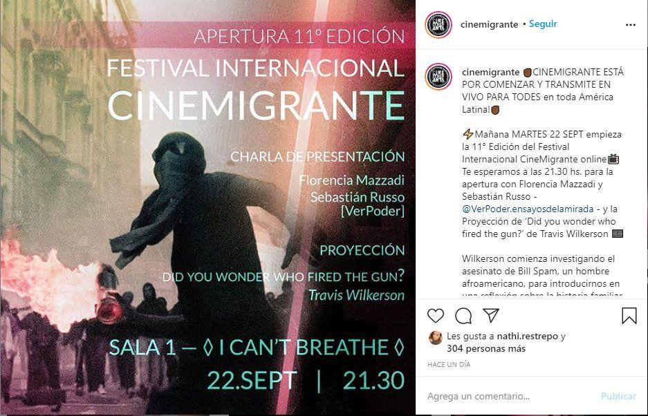 El Festival de Cine MIgrante será este año vía online