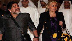 Diego Maradona junto a Verónica Ojeda