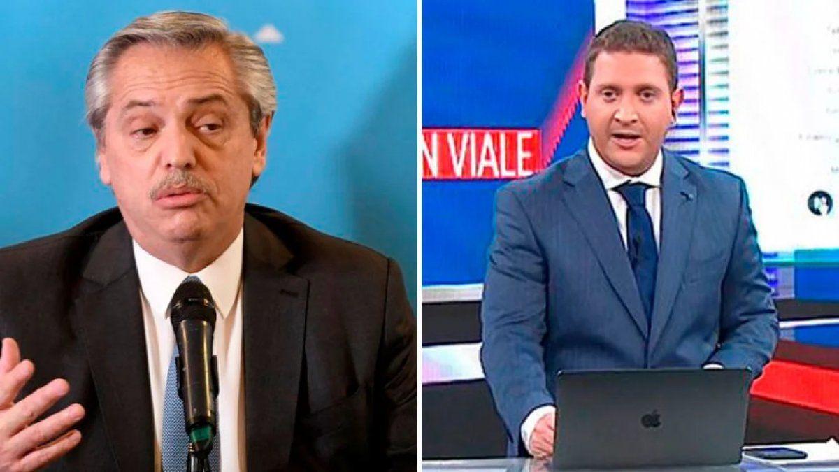 El periodista Jonatan Viale criticó a Alberto Fernández por dividir a la sociedad entre ricos y pobres todo el tiempo.