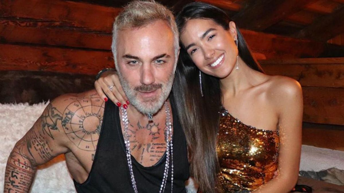 Gianluca Vacchi y Sharon Fonseca recrearon divertida escena de La familia P. Luche