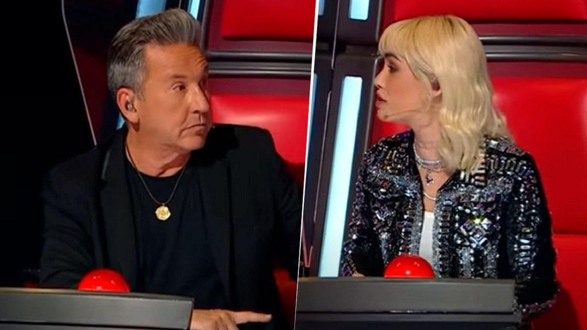 Lali Espósito chicaneó a Ricardo Montaner en La Voz