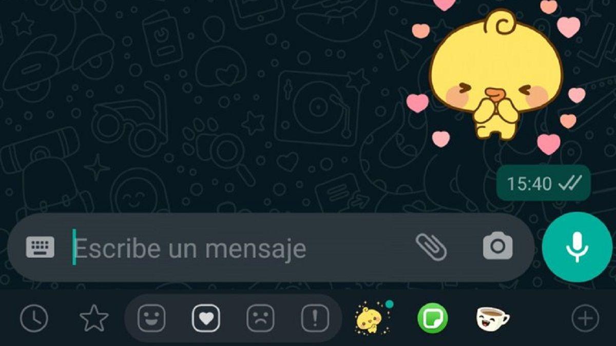 Los stickers animados de WhatsApp están disponibles en la versión beta de al aplicación