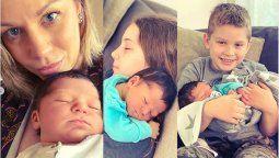 Las tiernas fotos que publicó Juliana Giambroni para celebrar el nacimiento de su tercer hijo