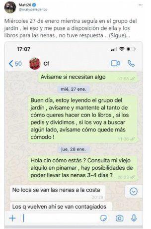 La prueba que publicó Matías Defederico