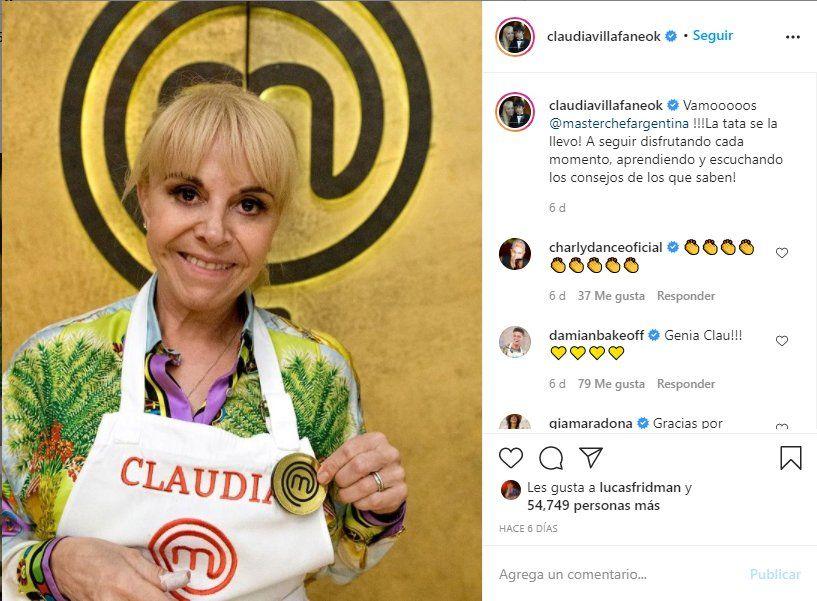 Claudia Villafañe se ausentará de las grabaciones de Masterchef tras la muerte de Maradona