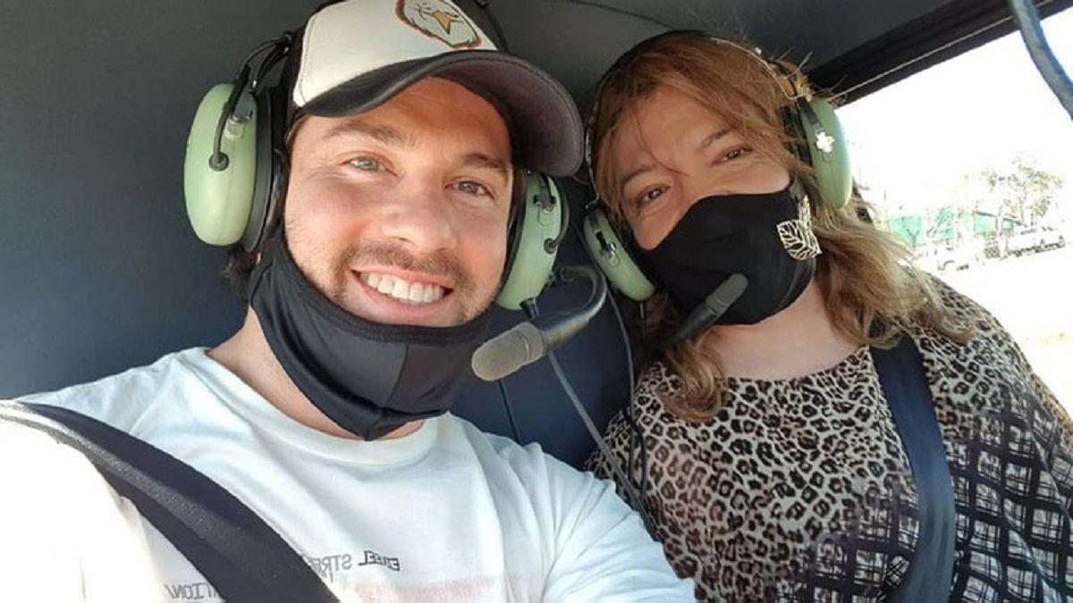 Lizy Tagliani le contestó a quienes la criticaron por volar en helicóptero con su novio