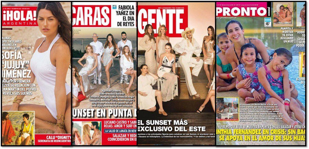 Eventos top desde Punta del Este, y el cabotaje mediático en Buenos Aires en las revistas de la semana