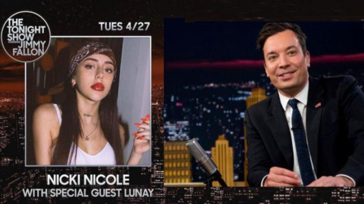 Nicki Nicole estará el próximo 27 de abril junto a Jimmy Fallon