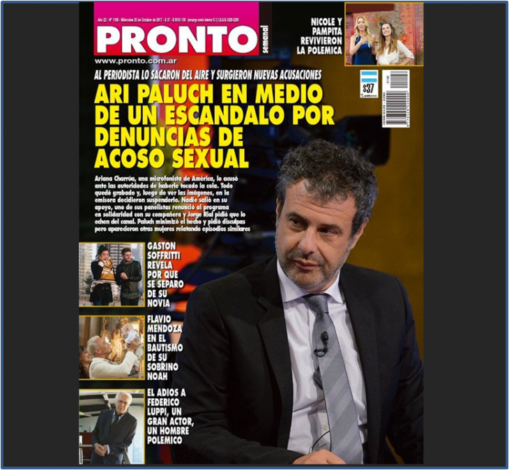 El escándalo de la semana: Ari Paluch y la acusación en su contra de acoso sexual es tapa