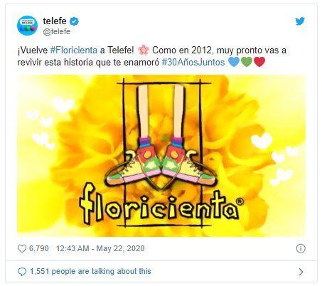 Floricienta vuelve a la pantalla de Telefé