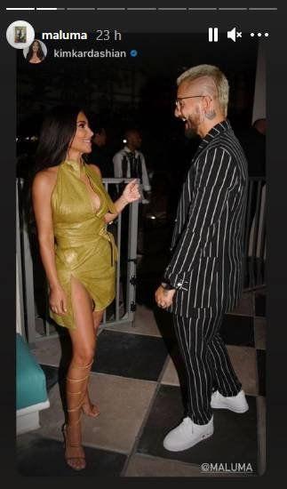 ¡Juntos! Maluma estuvo de rumba con Kim Kardashian