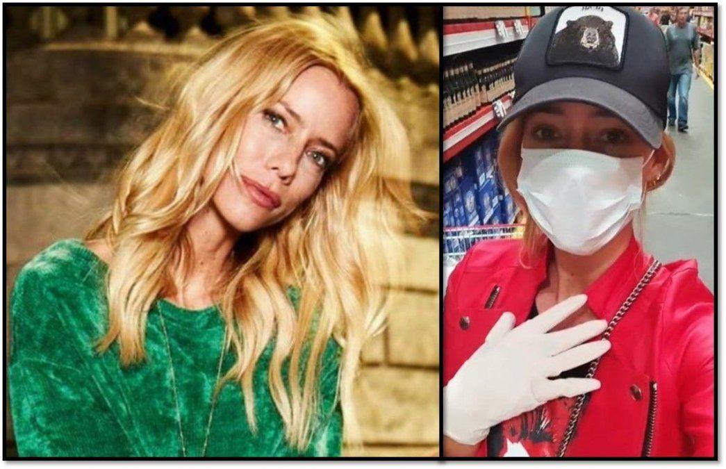 Ridícula: Nicole no sabe lo que es una pandemia y va al supermercado con barbijo