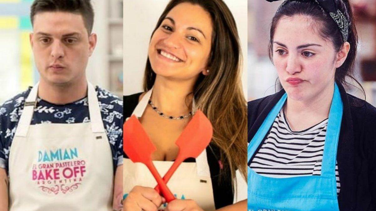 Los tres finalistas de Bake Off
