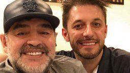 Matías Morla junto al ex jugador Diego Maradona Fallecido el pasado 25 de noviembre de 2020