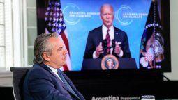 Durante la participación del presidente Alberto Fernández, Joe Biden se retiró por unos minutos