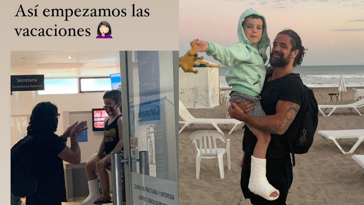 Luciano Castro y Sabrina Rojas en el hospital