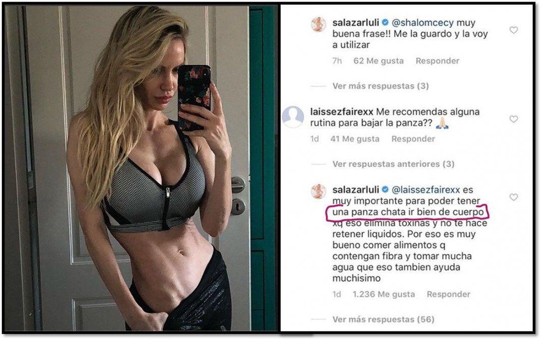 Luciana Salazar aconseja a sus fans ir bien de cuerpo para tener una panza chata