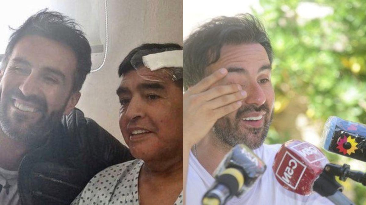 Leopoldo Luque, médico de Diego Maradona, se quebró al hablar tras el allanamiento en su casa