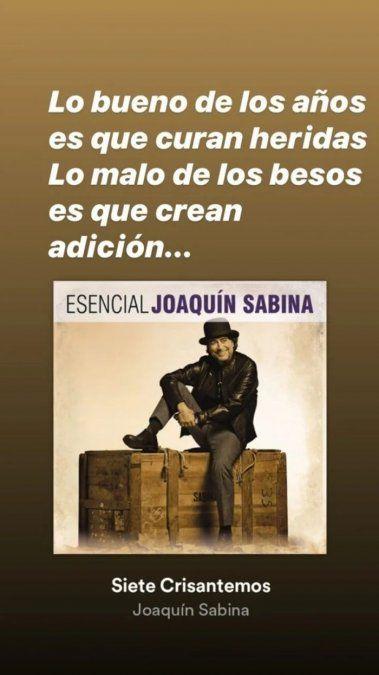 Daniel Osvaldo publicó una frase de Sabina en una historia de IG