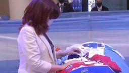 Cristina Fernández de Kirchner se despidió de Diego Maradona