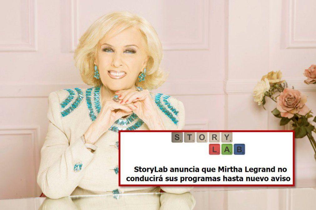 Cambios en la TV : Finalmente Mirtha Legrand no hará los programas hasta nuevo aviso