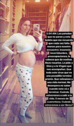 La modelo Sofía Zámolo compartió en su Instagram una reflexión acerca del embarazo