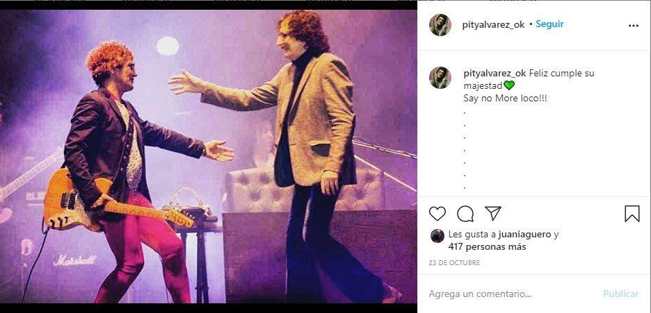 El músico Pity Álvarez saludó a Charly García por su cumpleaños