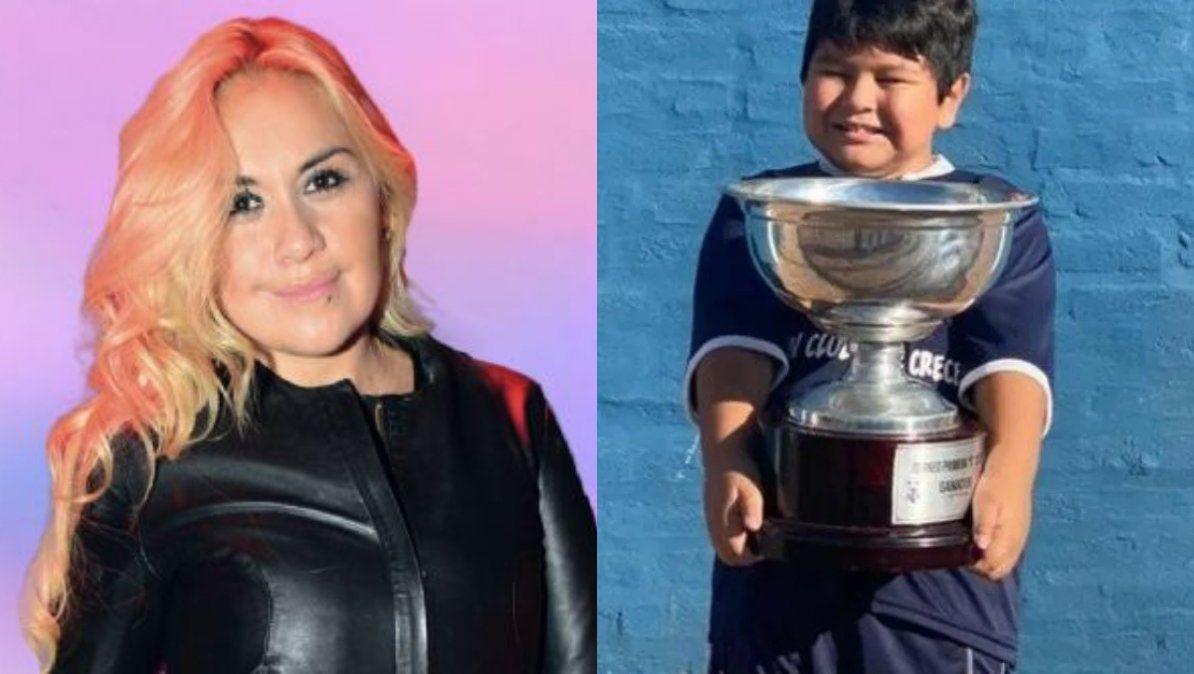 La emoción de Verónica Ojeda al ver a Dieguito Fernando jugando al fútbol