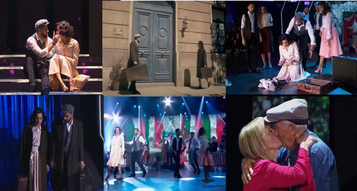 Nico Occhiato y Flor Jazmín emocionaron a todos con su homenaje a los innmigrantes italianos