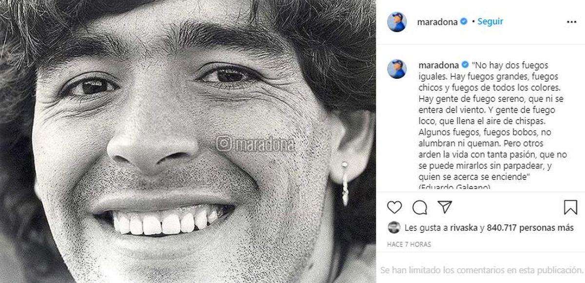 Este es el mensaje que compartieron los hijos de Diego Maradona en las redes sociales del jugador