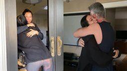 Oriana Sabatini regresó a Argentina y sorprendió a su familia