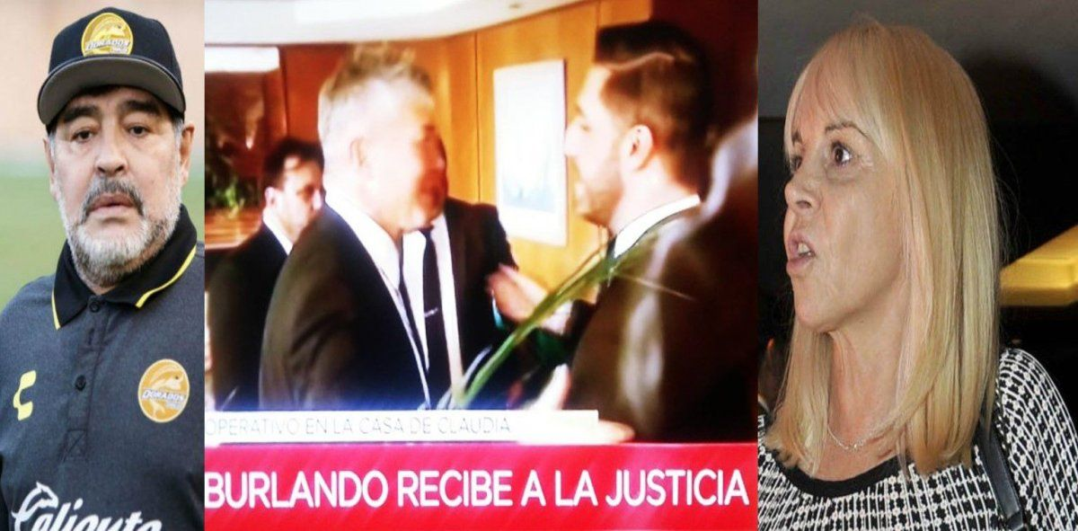 Allanaron la casa de Claudia Villafañe por pedido de Maradona: el enojo de Morla