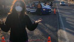 Patricia Sosa fue multada por ir a exceso de velocidad