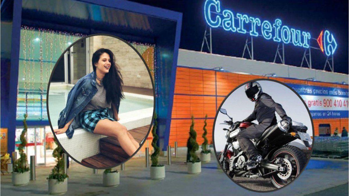 El misterio de Barbie Vélez en un Carrefour a los gritos: llanto, una moto y alguien llamado Gerónimo