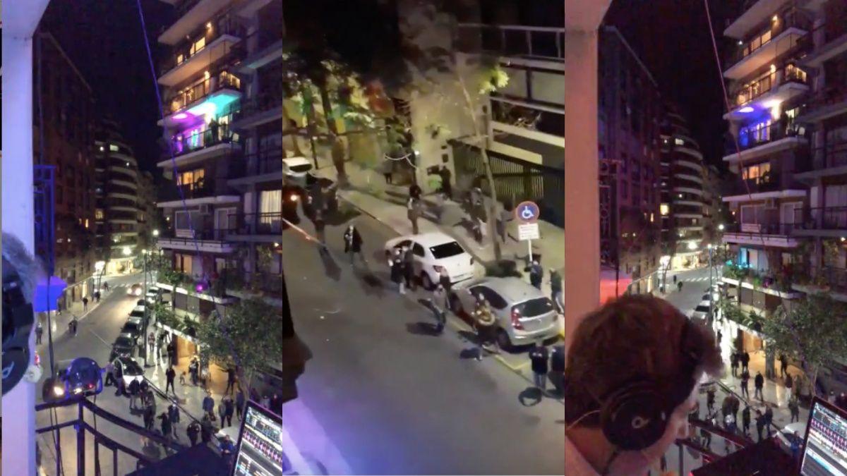 El DJ de Recoleta volvió a hacer música y los vecinos rompieron la cuarentena para bailar en la calle