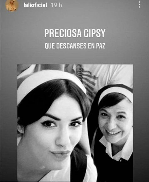Lali Espósito lamentó la muerte de Gipsy Bonafina