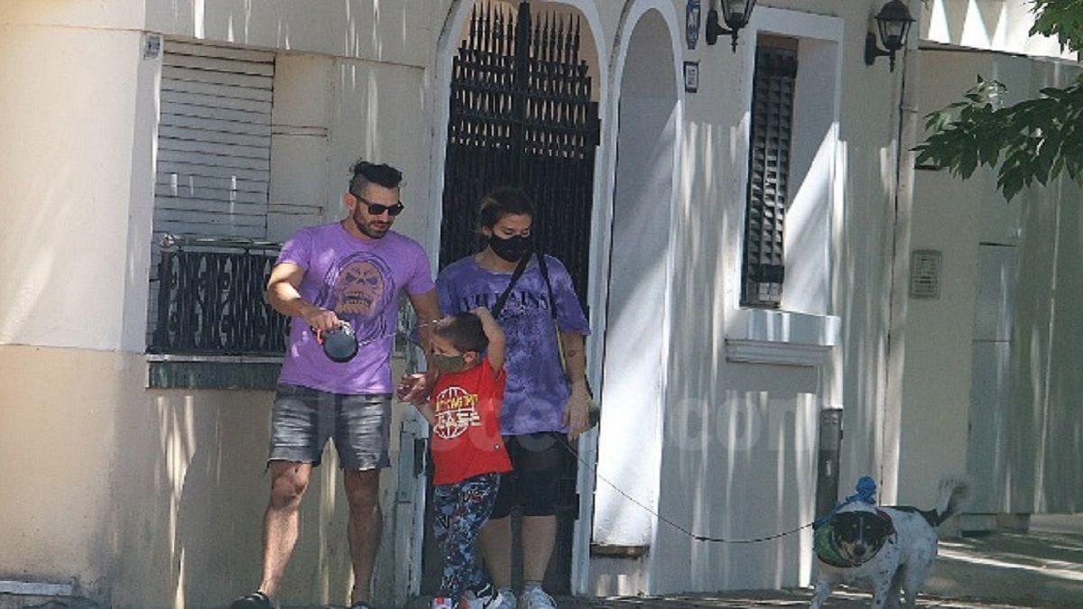 Jimena Barón reapareció en una caminata junto a El Tucu López y Morrison