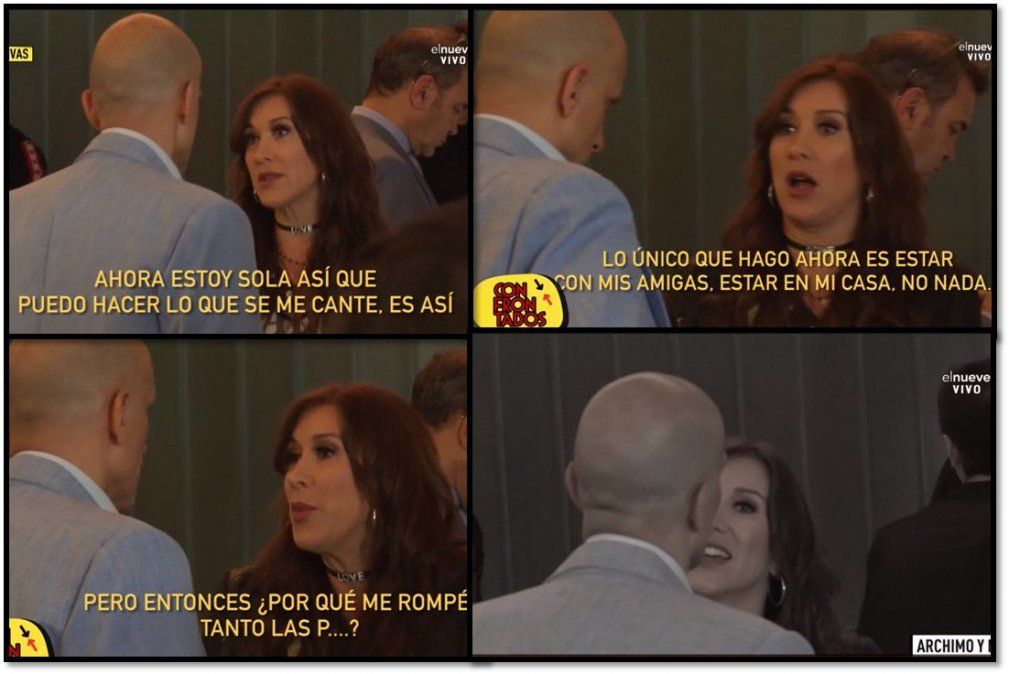 El escandaloso video de la pelea en público entre Valeria Archimó y su ex, Guillermo Marín: Dejá de acosarme
