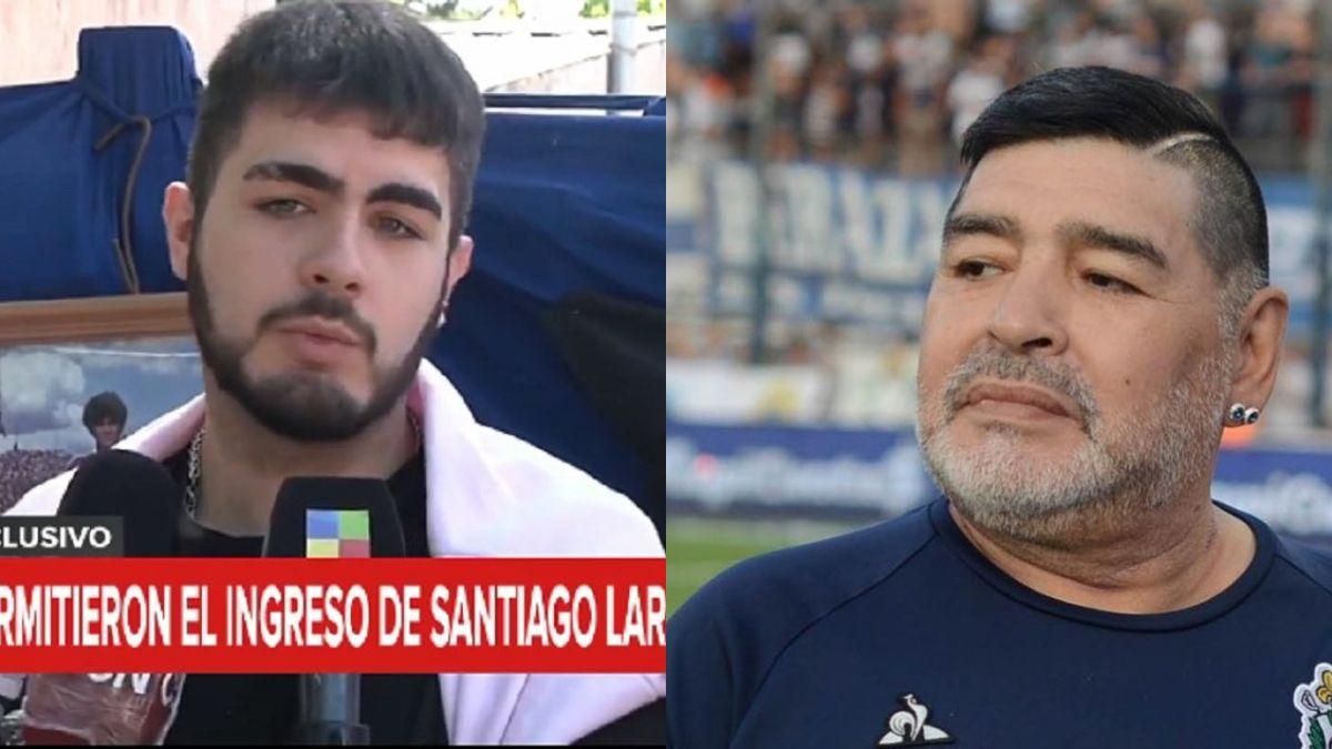 Santiago Lara, supuesto hijo de Diego Maradona, no pudo entrar al cementerio para llevarle flores