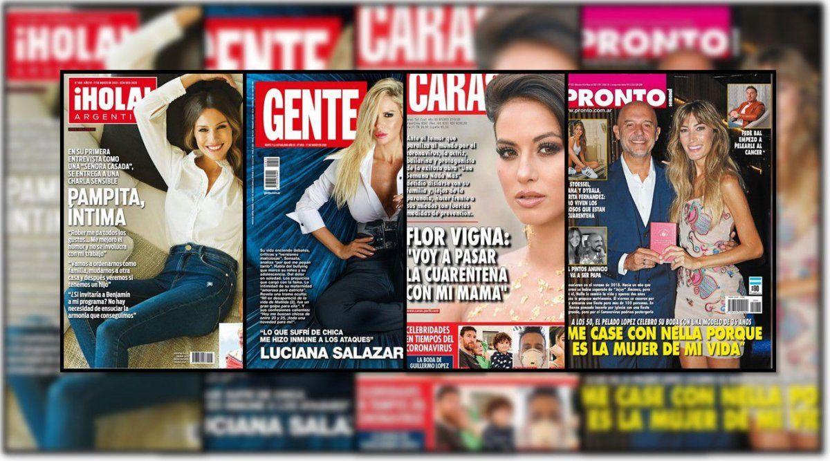 Salazar, Pampita, Vigna, el Pelado López y toda la actualidad de las revistas