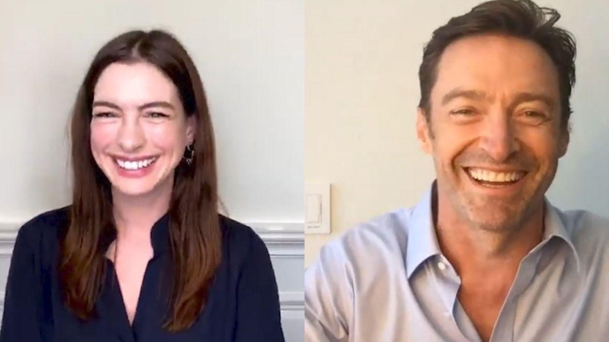 Hugh Jackman y Anne Hathaway participaron de una conferencia vía Zoom