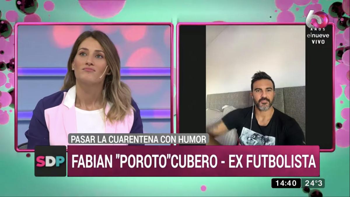 Fabián Cubero y Mica Viciconte