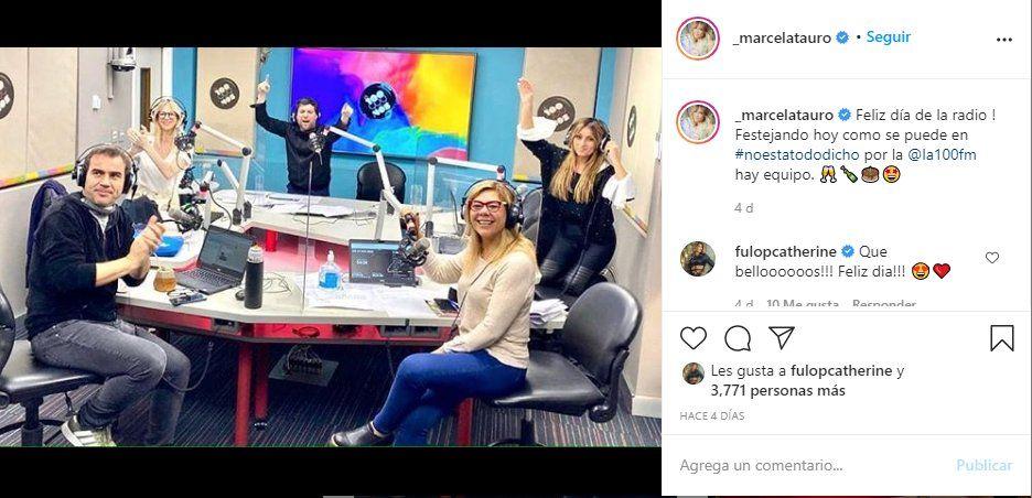 La periodista Marcela Tauro subió un posteo el día de la Radio y Katerine Fullop